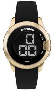 82cea81cd6c4c Relógio Mormaii Digital Redondo Feminino Dourado-Gold com Pulseira de  Silicone - MOBJT0078D