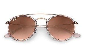 720db63222142 Óculos de Sol Ray-ban Round Double Bridge Redondo Degradê RB3647-N 9069A5  zoom