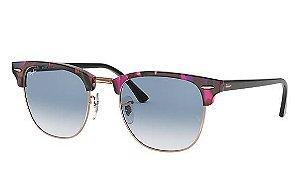 Óculos de Sol Ray-ban Clubmaster Fleck Armação Spotted Grey And Violet -  cinza e 310cef228e