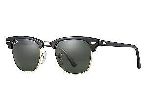 62b82940232d6 Óculos de Sol Ray-ban Clubmaster Preto com Dourado Clássico - Retrô -  Classic -