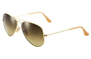 612f3f855f780 Óculos de Sol Ray-ban Aviador - Aviator - Large Metal - Piloto - Dourado  com Lentes Marrom Degradê - Gradiente - RB3025L112 85