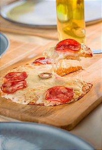 Pizza Low Carb de Calabresa