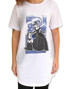 Camiseta Long Felizes para sempre