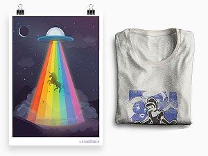 Combo Princesa - Camiseta Princesas Sapas + Pôster A3