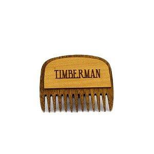 Pente de Madeira para Barba de Bolso Timberman