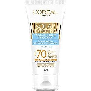 Bloqueador Solar Facial com Cor FPS 70 – Expertise Toque Limpo L'Oréal