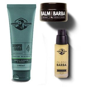 Kit para Barba Fresh Woods - Barba Brava