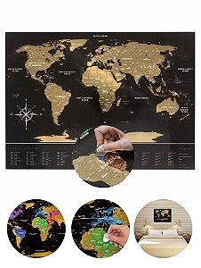 Mapa Mundi de Raspadinha Black Gold