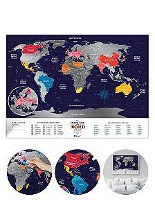 Mapa Mundi de Raspadinha Silver