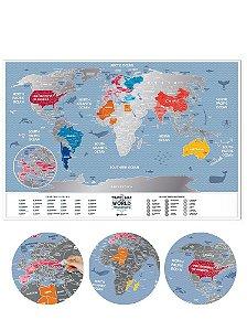 Mapa Mundi de Raspadinha Color