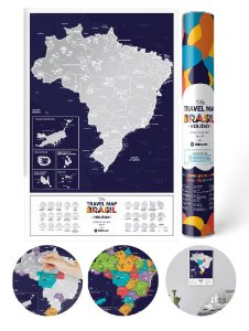 Mapa Mundi de Raspadinha Brasil