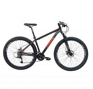 Bicicleta Mtb Rava Pressure Aro 29 2021 24 Velocidades Tam 17 Vermelho.