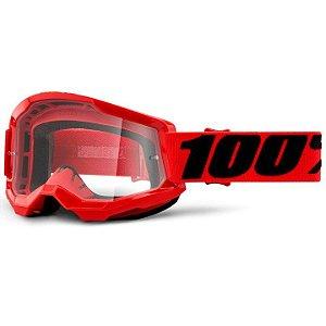 Óculos 100% Strata2 Vermelho