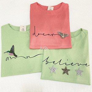 Tshirt Amor, Dream e Believe