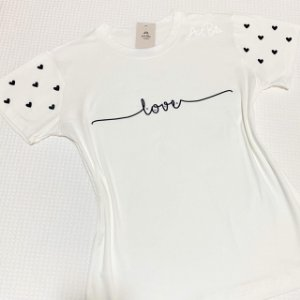 Tshirt Corações manga