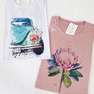 Tshirt Fusca e Broto aquarela
