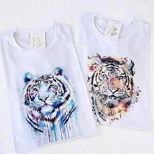 Tshirt Tigre Aquarela