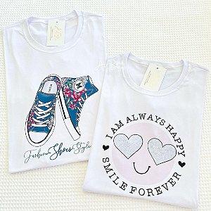 Tshirt Fashion Shoes e Smile Forever