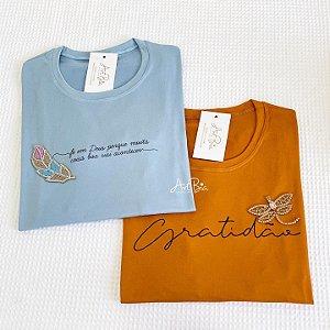 Tshirt Fé em Deus e Gratidão