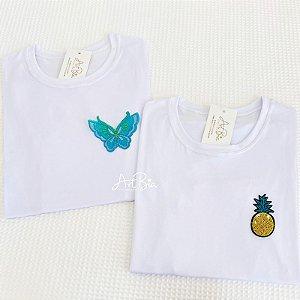 Tshirt Borboleta e Abacaxi