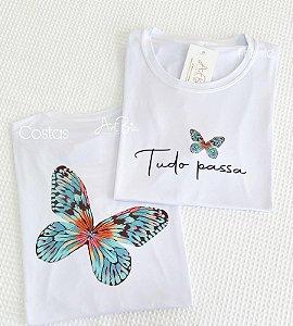 Tshirt Tudo Passa borboleta