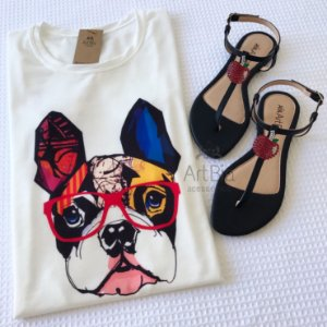 Tshirt buldogue color