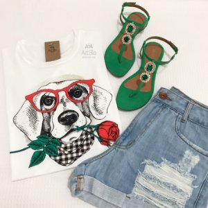 Tshirt dog flor