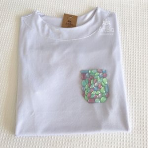 Tshirt bolso pedrarias