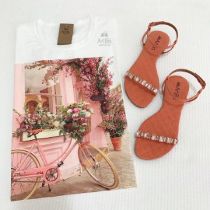 Tshirt bicicleta rosa