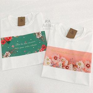 Tshirt estampas florais