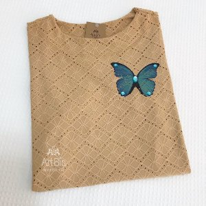 Tshirt laise borboleta
