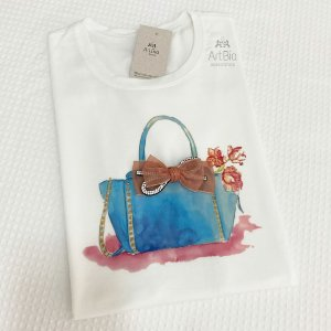 Tshirt Bolsa Azul