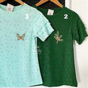 Tshirt laise 3 manguinhas