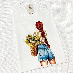 Tshirt Girl Girassol