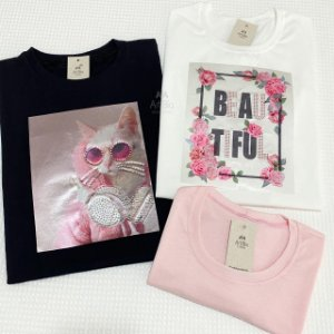 Tshirt Gato Fone e Beautiful