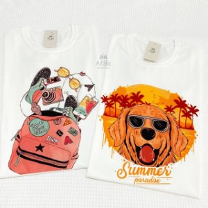 Tshirt Mochila e Dog Summer