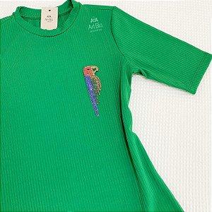 Tshirt arara strass (Tam. Único)
