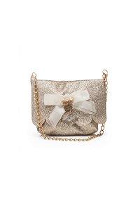 Bolsa dourada com brilho Julia Silva By Anuska
