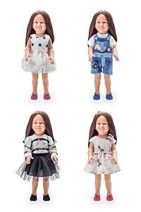Kit de roupas para bonecas de até 46 cm Julia Silva By Anuska