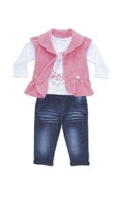 Conjunto Bebê em malha, jeans e soft