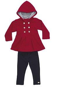 Conjunto Infantil com legging e casaco em Soft