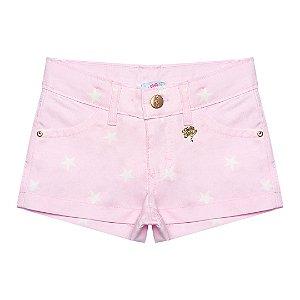 Shorts rosa estrela Julia Silva By Anuska