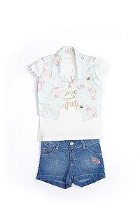 Conjunto Kids em jeans, malha e sarja