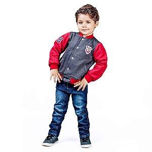 Conjunto infantil jaqueta e calça jeans