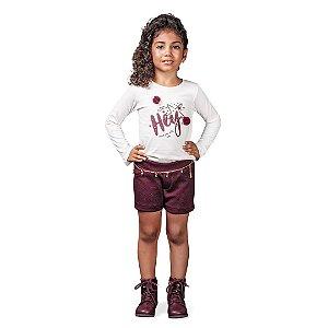 Conjunto Pom Pom com shorts e blusa em malha