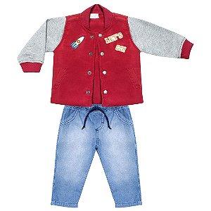 Conjunto Bebê em jeans com jaqueta