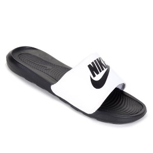 Chinelo Nike Slide Victori One Preto/Branco Masculino