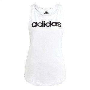 Regata Adidas Logo Linear Branco Feminino