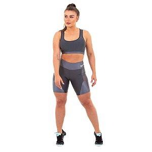 Shorts Everlast 44C Cinza Feminino