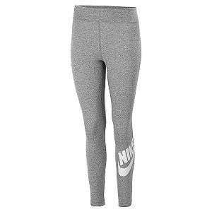 Calça Legging Nike Essential Ftra Cinza Feminino